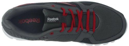 Reebok Heren Yourflex Run 4.0 Hardloopschoen Grind / Klinknagel Grijs / Uitstekend Rood / Wit
