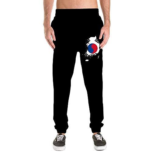 Nm45kL&KU Men Heavyweight Sweatpant, 100% Cotton Korea Map Jogger Pants