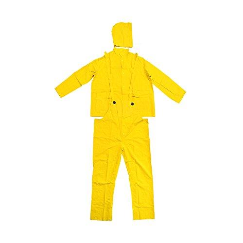 Falcon 201-350L Premium 3-Piece Rain-Suit, Rain-Coat, Rain-Jacket, Size Large L (5 Pack)