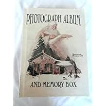 NORMAN ROCKWELL PHOTOGRAPH ALBUM BOOK AND MEMORY BOX WITH CHRISTMAS SANTA AND SNOW
