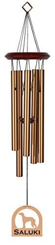 Chimesofyourlife E4576 Wind Chime, Saluki/Bronze, 19-Inch