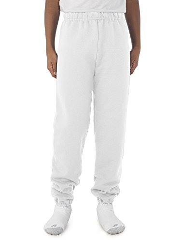 Jerzees NuBlend Youth Sweatpants (White) (S) - White Youth Sweatpant