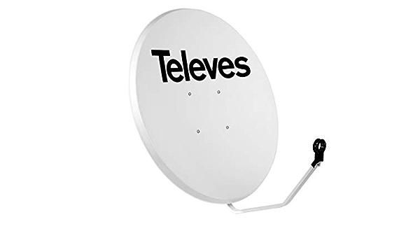 Televes 757201 - Antena offset 1100mm acero blanco ...