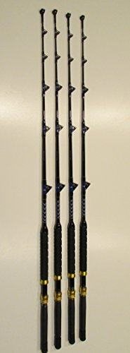 (XCALIBER MARINE SET OF 4 TOURNAMENT SERIES 6' 50-80 lb SALTWATER TROLLING RODS)