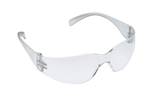 3M Tekk 11329 Virtua Anti-Fog Safety Glasses, Clear Frame, Clear Lens, 12-PACK