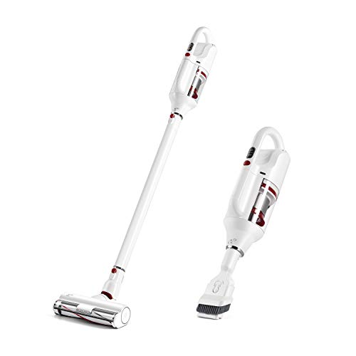 PUPPYOO T10Home Cordless Stick Vacuum Cleaner, 17.5Kpa Powerful Suction 250W Brushless Motor Hepa Filter