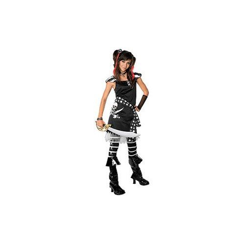 [Drama Queens Scar-let Pirate Tween Halloween Costume Size 2-4 Medium by Rubie's] (Halloween Pirate Woman Costumes)
