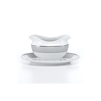 Parchment Gravy Boat and Saucer Set