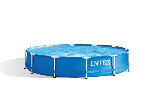 🥇 INTEX Piscina elevada Metal Frame – 6503 litros