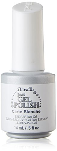 IBD Just Gel Soak Off White Nail Polish, Carte Blanche