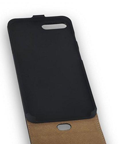 """Hochwertige Premium Handy Flip Case Tasche schwarz für """"Apple Iphone 7 Plus 5,5 Zoll"""" Schutz Hülle Etui Cover Schale schwarz"""