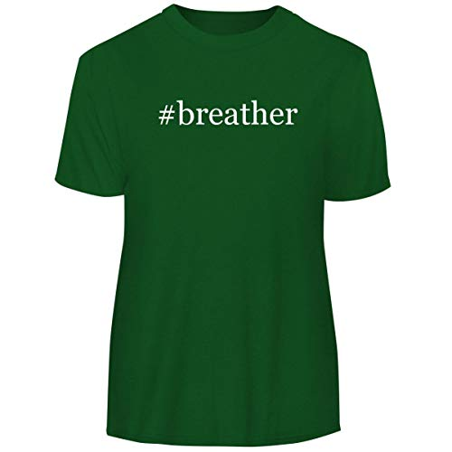 One Legging it Around #Breather - Hashtag Men's Funny Soft Adult Tee T-Shirt, Green, Large