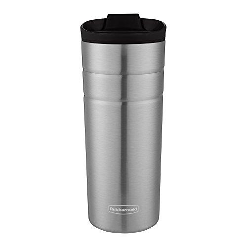 Dishwasher Safe Steel Mug - Rubbermaid Leak Proof Flip Lid Thermal Bottle, 16 oz., Black