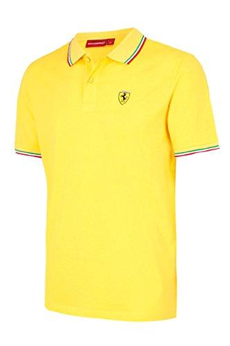 Scuderia Ferrari Formula 1 Men's 2017 Yellow Tricolor Polo F1 - Yellow Ferrari