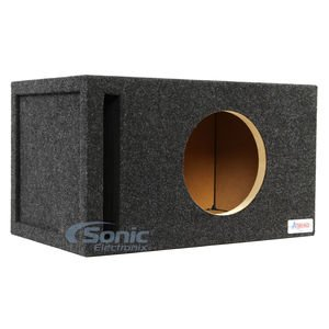 """ATREND 10W7SV 10"""" Single Vented Enclosure with 1"""" Baffle ..."""