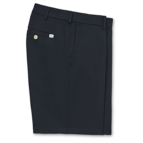 Men's Peter Millar Salem High Drape Performance Golf Short - Black - US SIZE 34 by PETER MILLAR