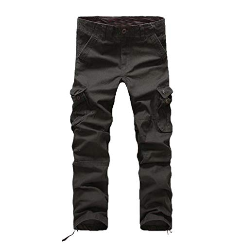 Allywit Men's Assault Tactical Pants Lightweight Cotton Outdoor Military Combat Cargo Trousers Big and Tall Dark Army Green by Allywit-Pants (Image #2)