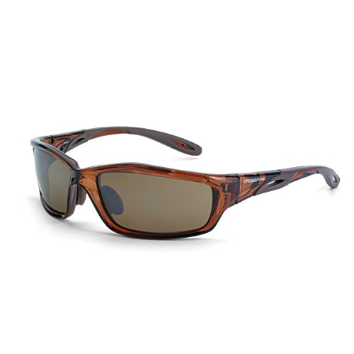5 Pack Crossfire 2117 Infinity Safety Glasses HD Brown Flash Mirror Lens - Crystal Brown Frame x 5 (Glass Brown Lens)