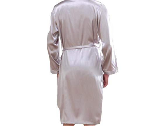 Larga Ntel Para Hombres Primavera Baño Especial Blanco Albornoz Estilo De Simulación Dormir Y Bata Hombre Otoño Pijama 1d5qwAT6x