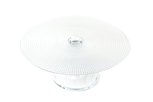 Tesoro Round Footed Glass Cupcake and Cake Stand Pedestal Platter - 4.5