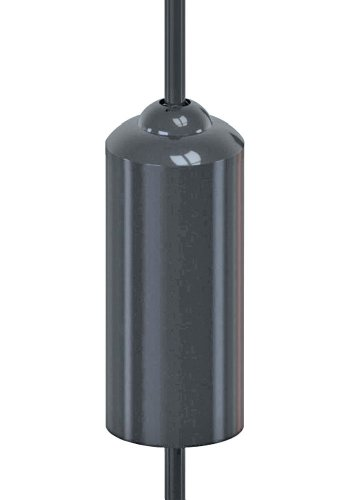 Stokes Select Adjustable Stove-Pipe Squirrel Baffle, Black,