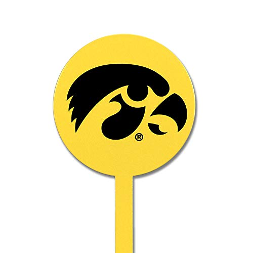 (Authentic Street Signs Spring Steel Garden Stakes (Iowa Hawkeyes-Yellow))