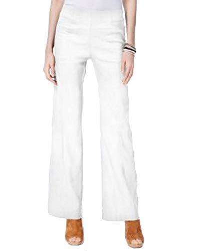 (I.N.C. International Concepts Women's Petite Pull-On Wide-Leg Pants (Bright White, 4P))