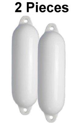 2 Stück Majoni Fender mit Rückschlagventil 12 * 45 in weiß