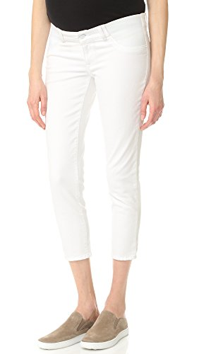 DL1961 Women's Florence Crop Maternity Jeans, Porcelain, 27 (Maternity Seven Jeans)