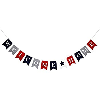 Amazon.com: Welcome Home Sign Banner Party Accessory (1 count) (1 ...