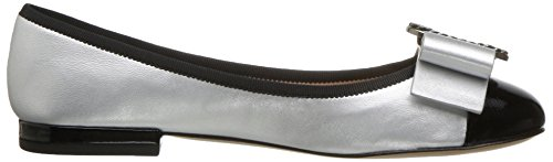 Marc Jacobs Women's Interlock Round Toe Ballerina Ballet Flat Silver/Black footlocker pictures sale online clearance visa payment the cheapest for sale low shipping cheap price cheap real kaKrGv23I