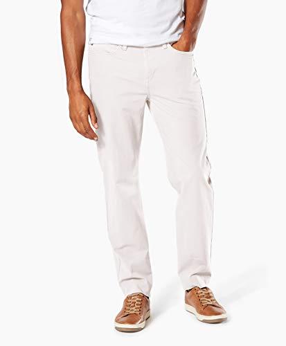 (Dockers Men's Straight Fit Jean Cut Smart 360 Flex Pant D2, egret, 34W x 30L)