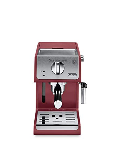 De'Longhi ECP3220R 15 Bar Espresso Machine with with Advanced Cappuccino System, Red