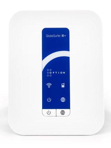 Option GlobeSurfer III+ GSM/HSPA Router - 3G+ Wireless Gateway for Voice, Broadband Data, and Wi-Fi - White (3g Broadband Router Wireless)