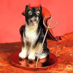 Alaskan Malamute Little Devil Dog Figurine