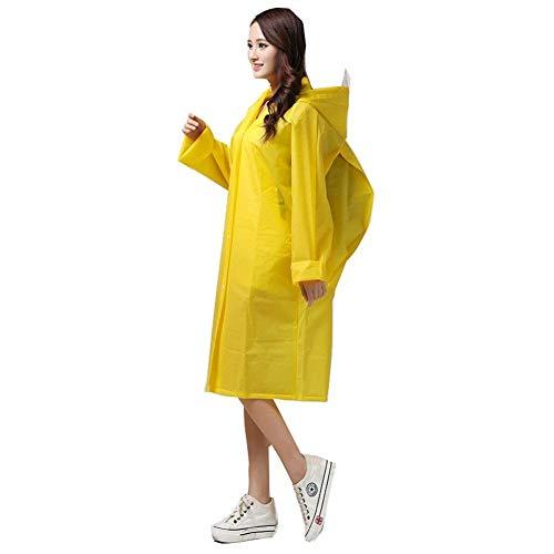 Y De Almacenamiento Lluvia Con Ropa Adulto Reutilizable Bolsa Impermeable Poncho Gelb Yasminey Chic qSTzZ