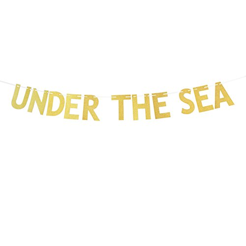 Gold Glitter Under the Sea Banner Mermaid Party