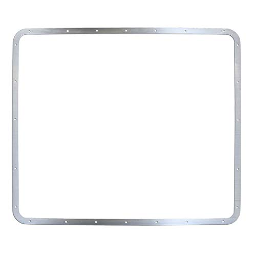 (Polished Stainless Steel Grille Hoop Trim Ring Fits Peterbilt 379 127 BBC)