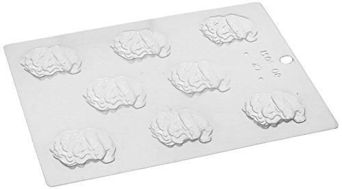 Paderno World Cuisine 8 Imprint Polypropylene 1.875 Inch Santa Claus Face Chocolate Mold ()
