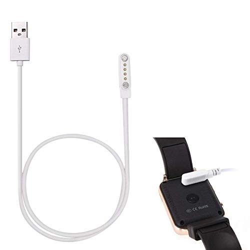Charging Cable for Smart Watch,DOCA 4 Pins Magnetic Adsorption USB Charger Cable for Bluetooth Smart Watches: Picture Size is Correct(Be Sure to Check) (4 Pin)