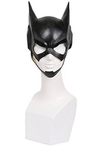 [Girls Bat Mask Cosplay Costume Accessories for Halloween Latex] (Kids Cat Costume Face Paint)