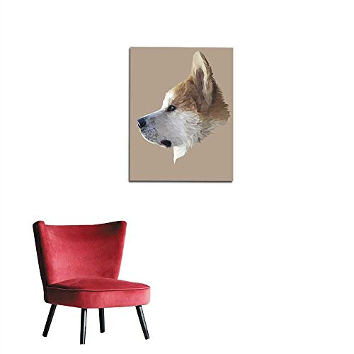 - Wall Sticker Decals Akita Inu Dog Low Poly Mural 20