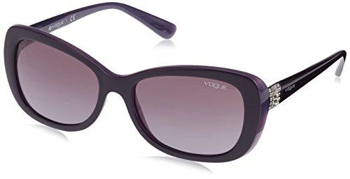 Vogue VO2943SB Sunglasses 13128H-55 - Dark Violet/Opal Lilac Frame, Violet - Gradient Violet