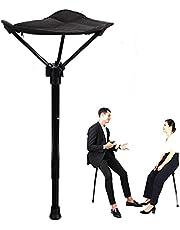 chongwu Lichte klapstoel, klapkruk, klapstoel, instelbare en draagbare hoge stoel, licht en sterk, voor jacht, wandelen, reizen, muziekfestival, concert