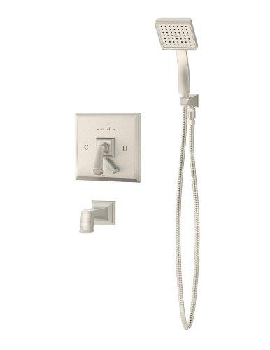 - Symmons S-4204-Stn Oxford Tub/Hand Shower System, Satin Nickel