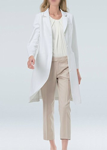 Naway ナウェイ ナガイレーベン EH-3710 女子ドクターコート S~EL 医療ユニフォーム 診察衣 実験衣 B01M2YFHV6 M