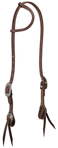 Weaver Leather Working Tack Sliding Ear Headstall with Floral Hardware