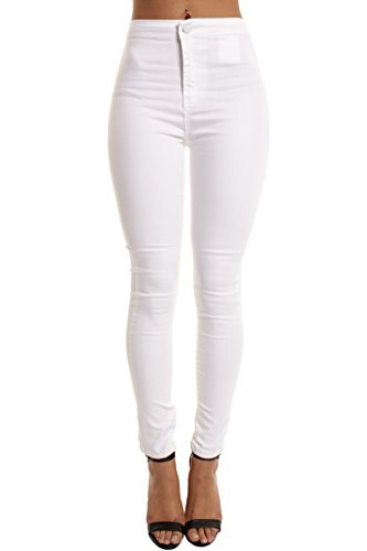 Plain Portobello Punk Jeans Donna White 66v7q