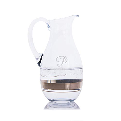 (Personalized Crystal Elegance Waterford Water Pitcher - Engraved & Monogrammed - Great for Juice, Beer, Wine, Iced Tea and Lemonade)