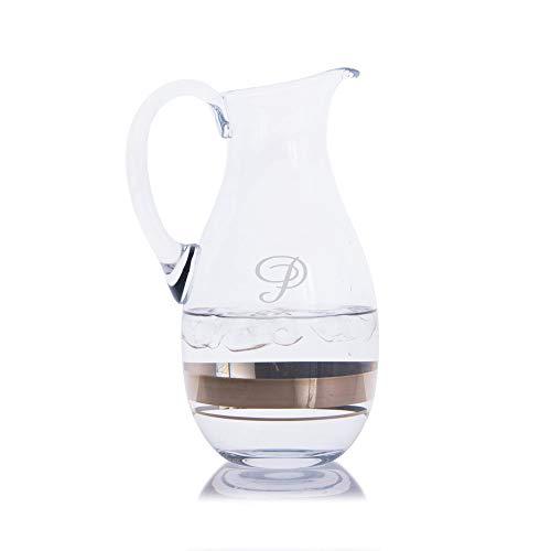 Elegance Waterford Water Pitcher - Engraved & Monogrammed - Great for Juice, Beer, Wine, Iced Tea and Lemonade ()